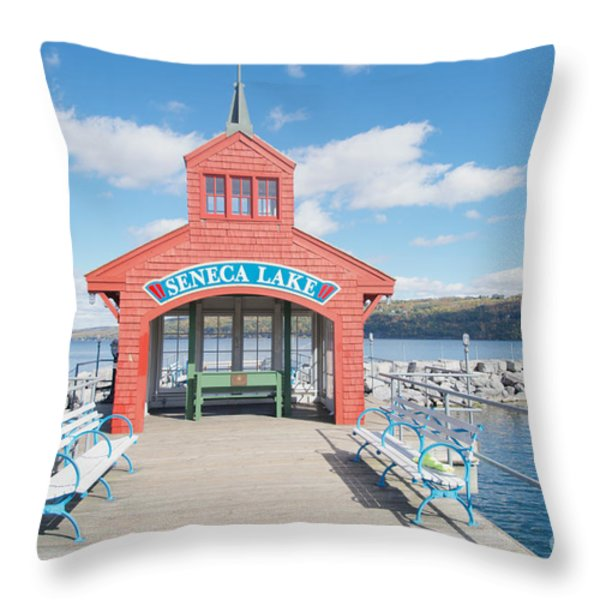 Seneca Lake Throw Pillow by William Norton