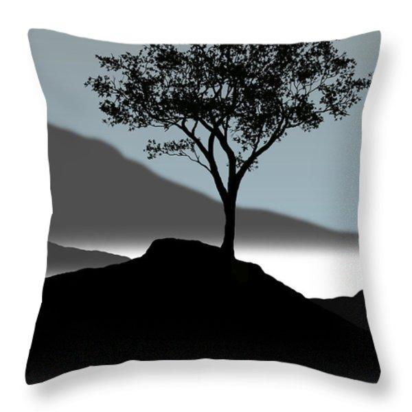 Serene Throw Pillow by Chris Brannen