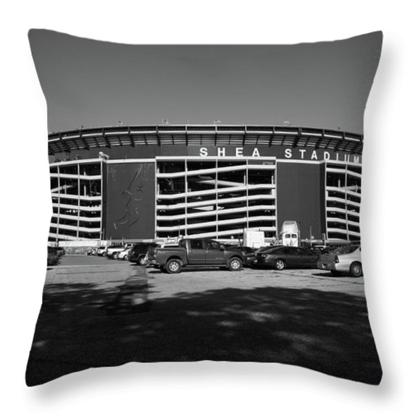 Shea Stadium - New York Mets Throw Pillow by Frank Romeo