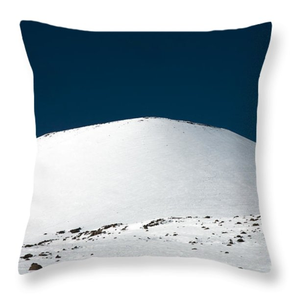 Snowy Mauna Kea Throw Pillow by Peter French - Printscapes