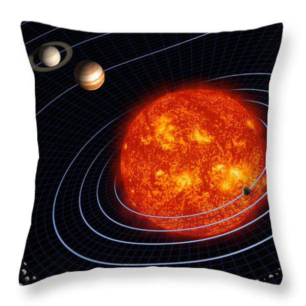 Solar System Throw Pillow by Stocktrek Images