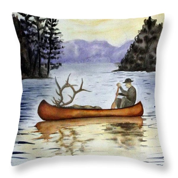 Solitude Throw Pillow by JIMMY SMITH