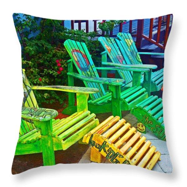 Take A Break Throw Pillow by Debbi Granruth