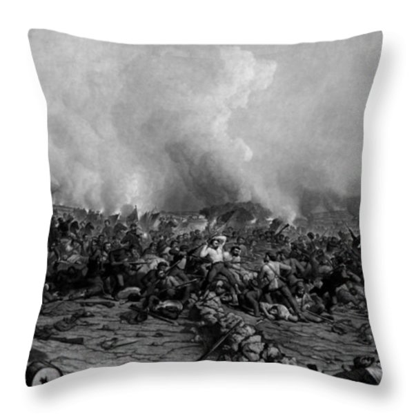 The Battle of Gettysburg Throw Pillow by War Is Hell Store