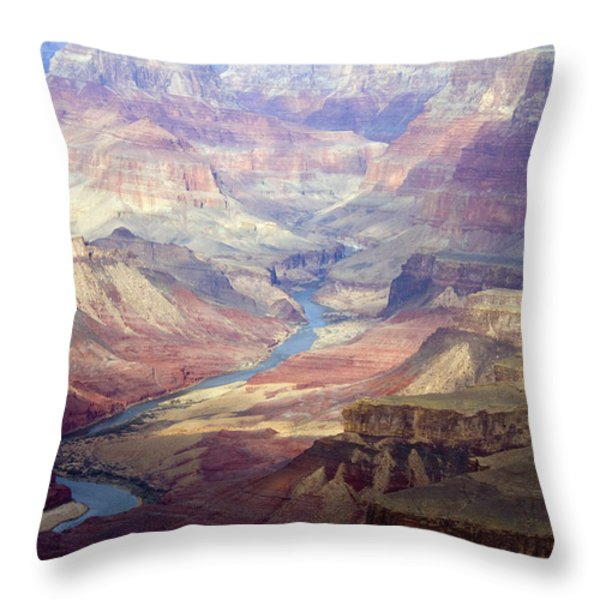 The Colorado River And The Grand Canyon Throw Pillow by Annie Griffiths