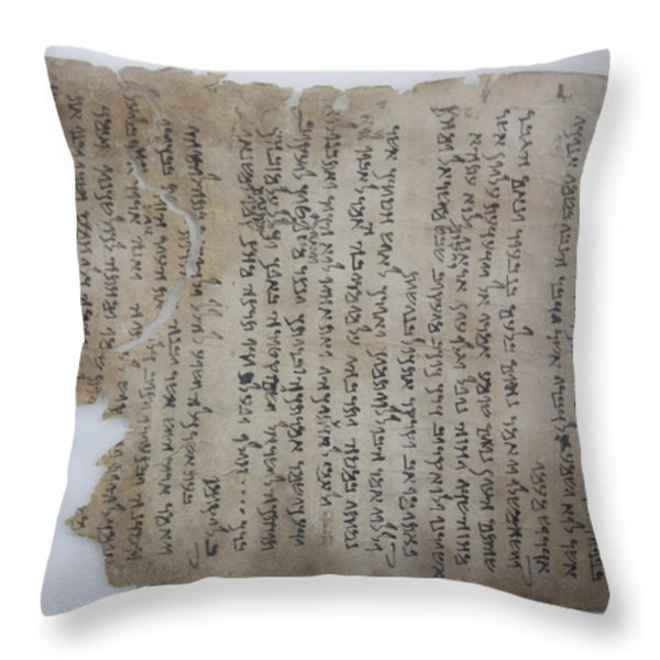 The Dead Sea Scrolls Throw Pillow by Taylor S. Kennedy