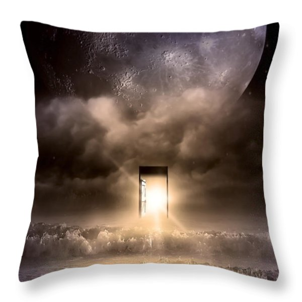 The Door Throw Pillow by Svetlana Sewell