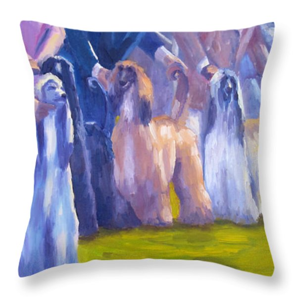 The Girls Throw Pillow by Terry  Chacon