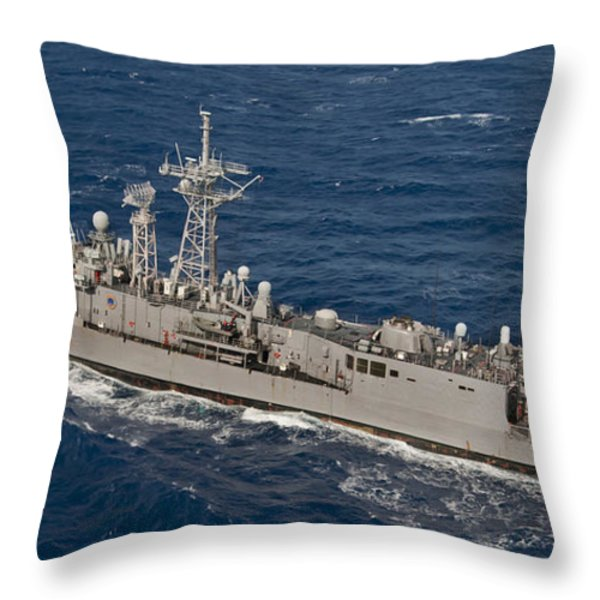 The Guided-missile Frigate Uss Reuben Throw Pillow by Stocktrek Images
