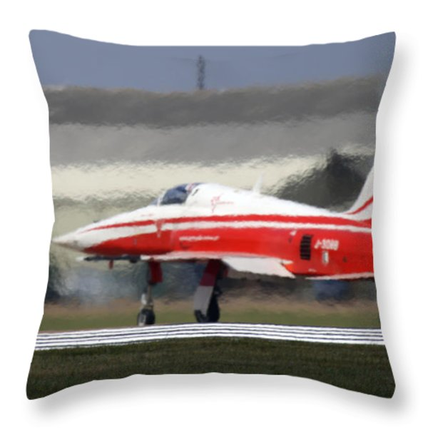 The Heat Throw Pillow by Angel  Tarantella