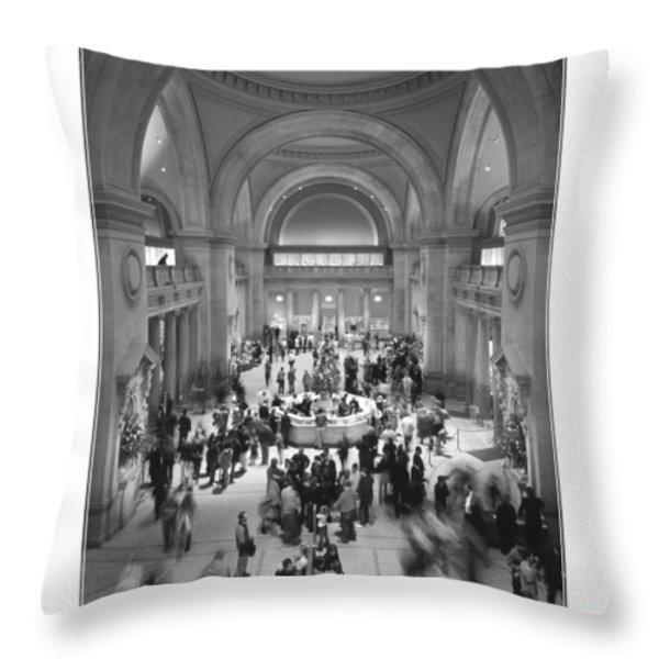 The Metropolitan Museum of Art Throw Pillow by Mike McGlothlen
