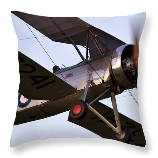 The Old Aircraft Throw Pillow by Angel  Tarantella