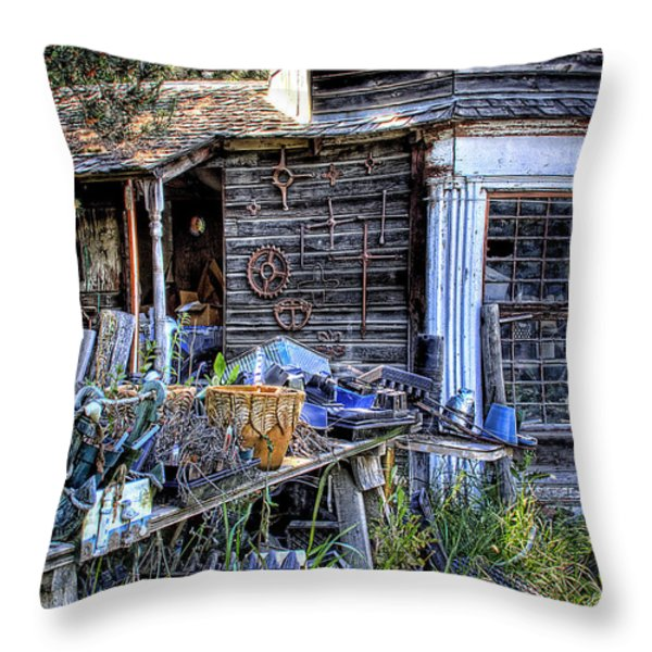 The Old Shed Throw Pillow by David Patterson