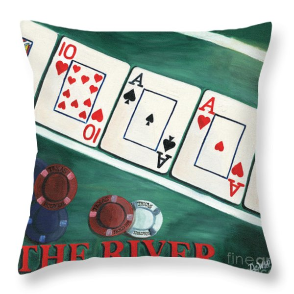 The River Throw Pillow by Debbie DeWitt