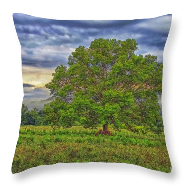 The Tree Throw Pillow by Geraldine DeBoer