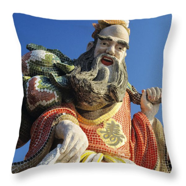 Tin Hua Temple Throw Pillow by Gloria & Richard Maschmeyer - Printscapes