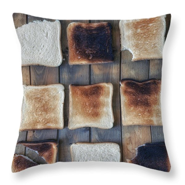 Toast Throw Pillow by Joana Kruse