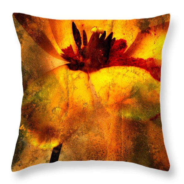 Tulip Throw Pillow by Bernard Jaubert