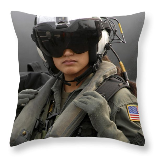 U.s. Navy Aviation Warfare Systems Throw Pillow by Stocktrek Images