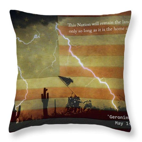 USA Patriotic Operation Geronimo-E KIA Throw Pillow by James BO  Insogna