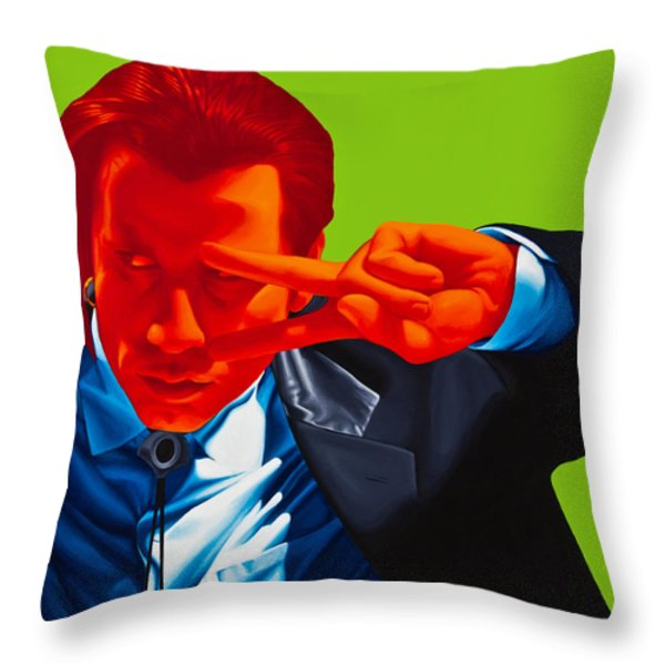 Vincent Vega Throw Pillow by Ellen Patton