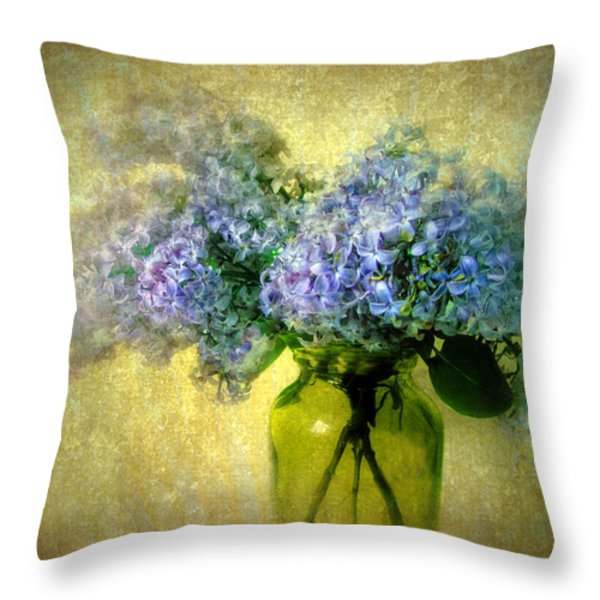 Vintage Lilac Throw Pillow by Jessica Jenney