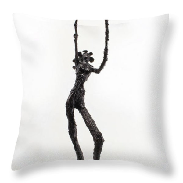 Votary Of The Rain A Sculpture By Adam Long Throw Pillow by Adam Long