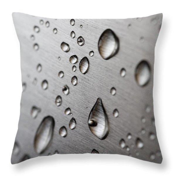 Water Drops Throw Pillow by Frank Tschakert