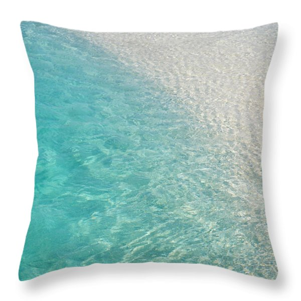 Water Meditation I. Five Elements. Healing with Feng Shui and Color Therapy in Interior Design Throw Pillow by Jenny Rainbow