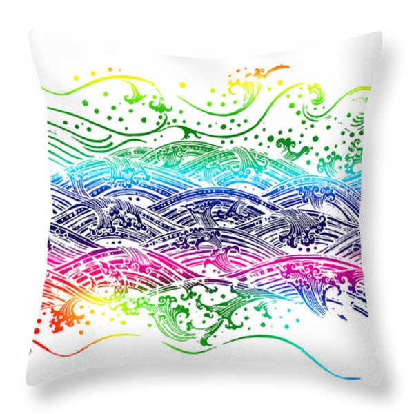 water pattern Throw Pillow by Setsiri Silapasuwanchai