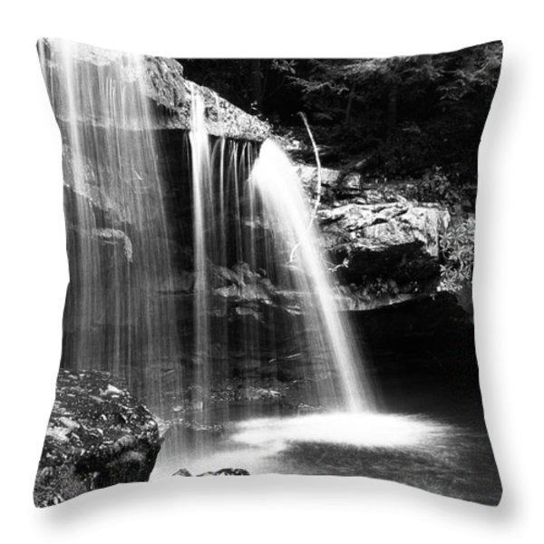 West Virginia Waterfall  Throw Pillow by Thomas R Fletcher