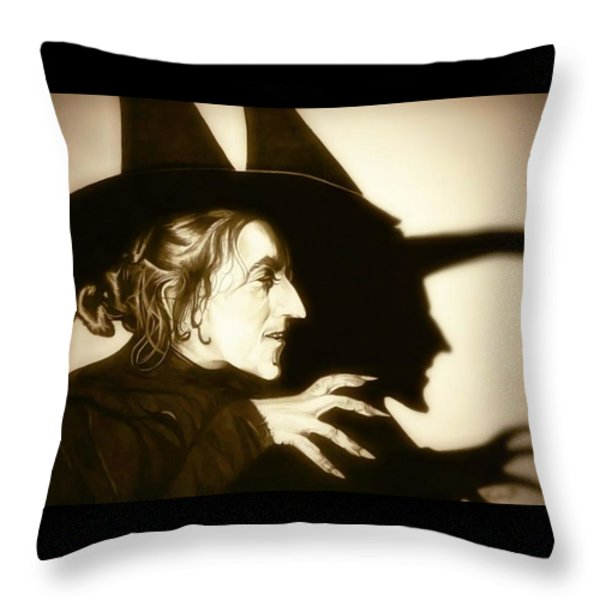Wicked Witch Of The West Throw Pillow by Fred Larucci
