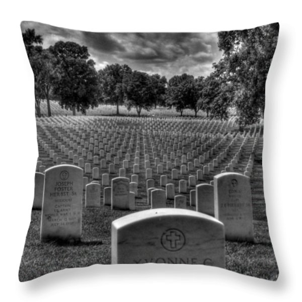 Yvonne Throw Pillow by Jane Linders