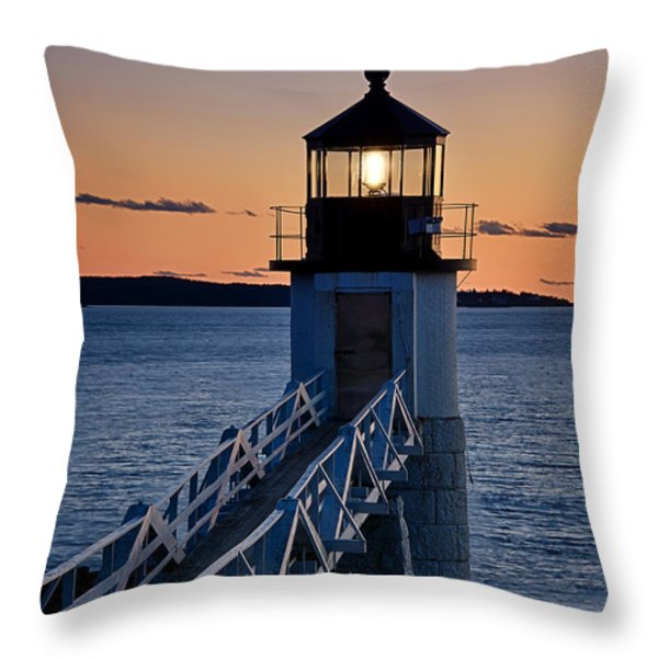 Marshall Point Lighthouse Throw Pillow by John Greim