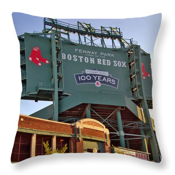 100 Years at Fenway Throw Pillow by Joann Vitali