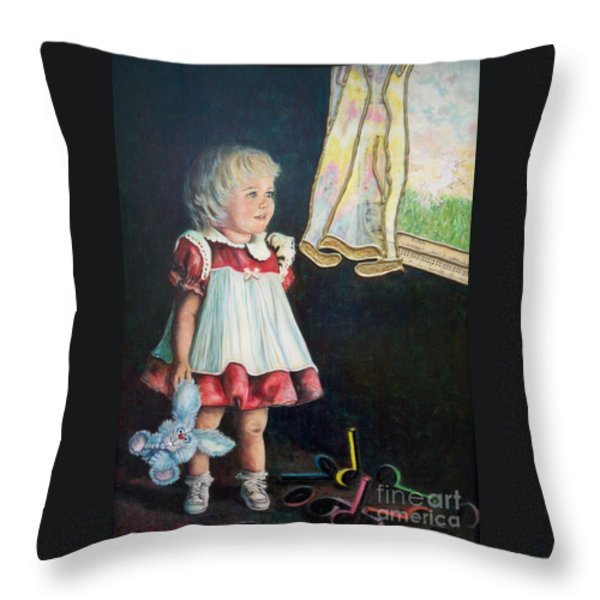 101 Imagination Girl Throw Pillow by Sigrid Tune