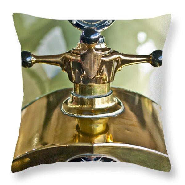 1917 Owen Magnetic M-25 Hood Ornament 2 Throw Pillow by Jill Reger