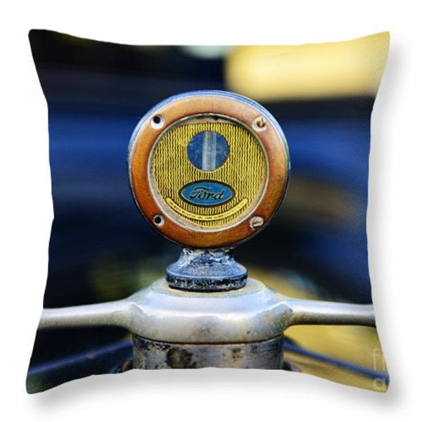 1919 Ford Model T Hood Ornament Original Throw Pillow by Paul Ward