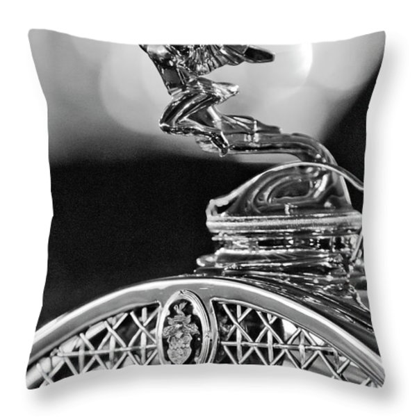 1931 Packard Convertible Victoria Hood Ornament 2 Throw Pillow by Jill Reger