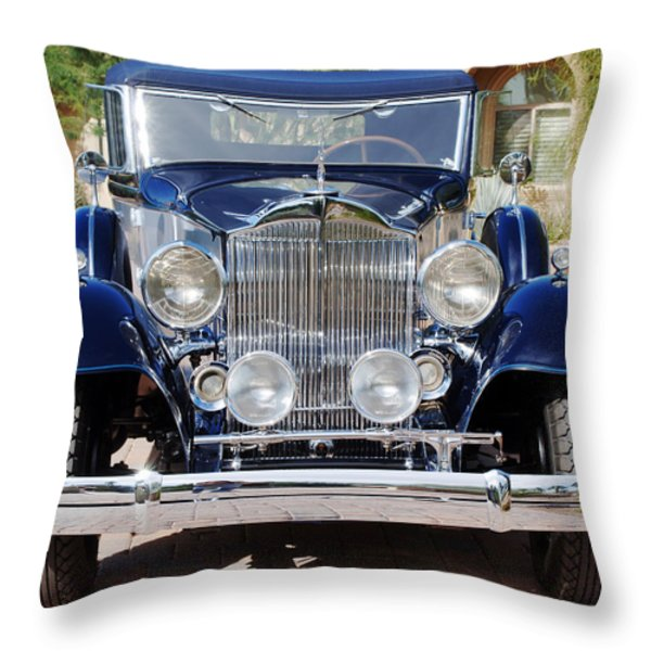 1933 Packard 12 Convertible Coupe Throw Pillow by Jill Reger