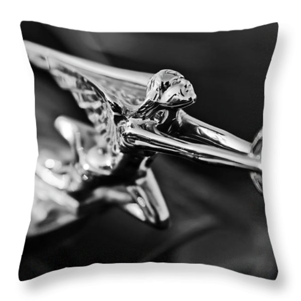 1934 Packard Hood Ornament 2 Throw Pillow by Jill Reger