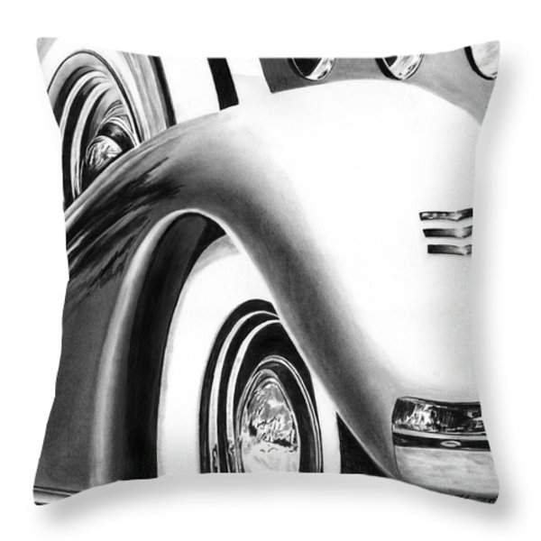 1935 Lasalle Abstract Throw Pillow by Peter Piatt