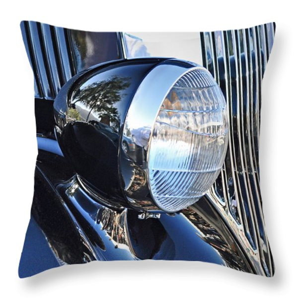 1936 Ford 2dr Sedan Throw Pillow by Gwyn Newcombe