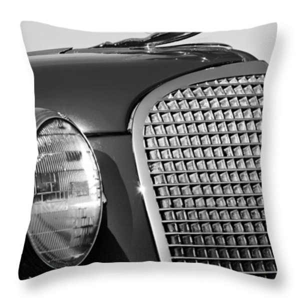 1937 Cadillac V8 Hood Ornament 3 Throw Pillow by Jill Reger