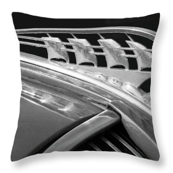 1938 Plymouth Hood Ornament 2 Throw Pillow by Jill Reger