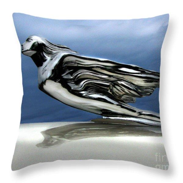 1941 Cadillac Emblem Abstract Throw Pillow by Peter Piatt
