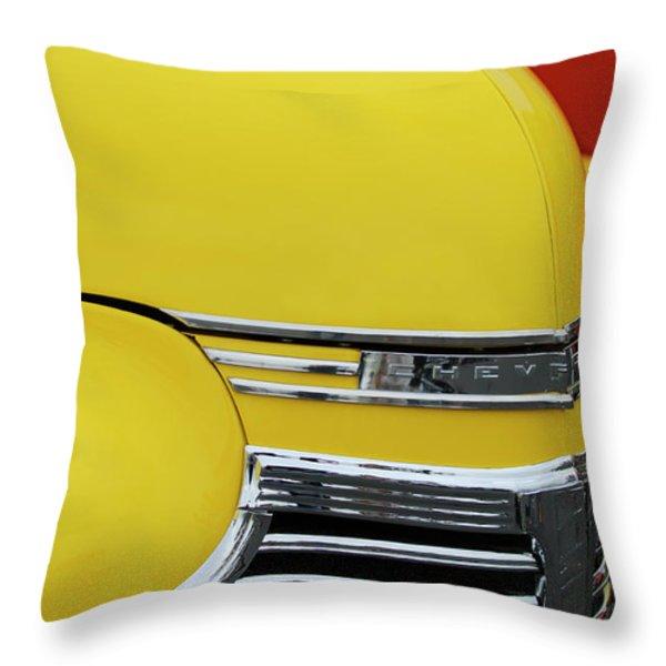 1941 Chevrolet Sedan Hood Ornament 2 Throw Pillow by Jill Reger