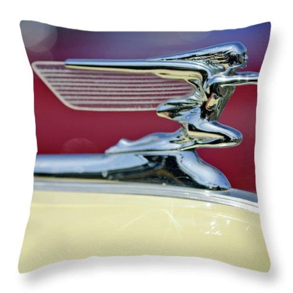 1941 Packard Hood Ornament 3 Throw Pillow by Jill Reger