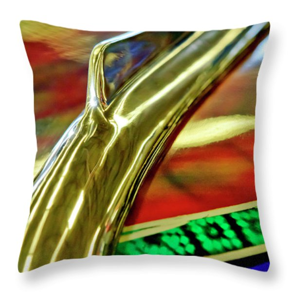 1941 Willys Chopped Gasser Pickup Hood Ornament Throw Pillow by Jill Reger
