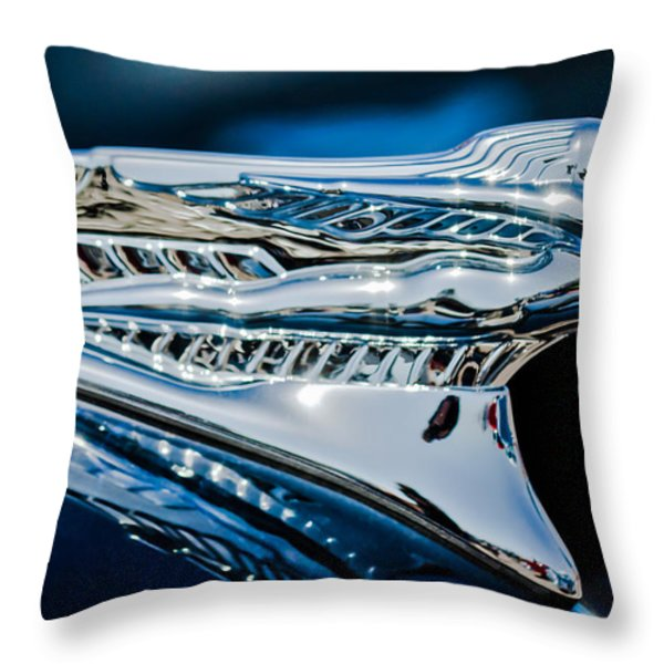 1946 Desoto Hood Ornament Throw Pillow by Jill Reger